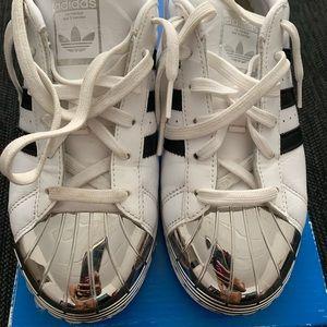Adidas Superstar metal toe sneakers